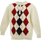 Tommy Hilfiger Pullovers -  Tommy Hilfiger Argyle Quarter Zip Sweater Ivory