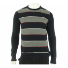 Tommy Hilfiger Puloverji -  Tommy Hilfiger Crew Neck Striped Sweater Navy