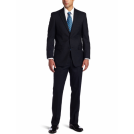 Tommy Hilfiger Suits -  Tommy Hilfiger Men's 2 Button Side Vent Trim Fit Suit with Flat Front Pant Navy