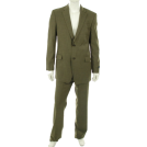Tommy Hilfiger Suits -  Tommy Hilfiger Men's 2 Button Trim Fit Suit with Flat Front Pant Olive