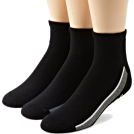 Tommy Hilfiger Underwear -  Tommy Hilfiger Men's 3 Pack Fashion Sport Ped Socks Black/blue/white/dove