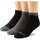 Tommy Hilfiger Underwear -  Tommy Hilfiger Men's 3 Pack Target Cushion Fashion Ped Socks Black/Charcoal