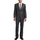 Tommy Hilfiger Suits -  Tommy Hilfiger Men's Birdseye Trim Fit Suit Gray