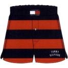 Tommy Hilfiger Underwear -  Tommy Hilfiger Men's Rugby Stripe Knit Boxer Red