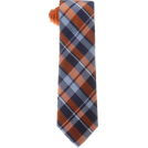 Tommy Hilfiger Tie -  Tommy Hilfiger Men's Satin Bar Stripe Necktie Orange