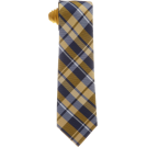 Tommy Hilfiger Tie -  Tommy Hilfiger Men's Satin Bar Stripe Necktie Yellow