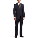 Tommy Hilfiger Suits -  Tommy Hilfiger Men's Slim Stripe Trim Fit Suit Gray