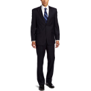 Tommy Hilfiger Suits -  Tommy Hilfiger Men's Tattersal Trim Fit Suit Blue