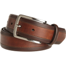 Tommy Hilfiger Cinture -  Tommy Hilfiger Men's Vachetta Two Tone Dress Belt Brown