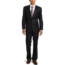 Tommy Hilfiger Suits -  Tommy Hilfiger Men's Windowpane Trim Fit Suit Gray
