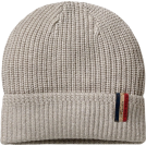 Tommy Hilfiger Hat -  Tommy Hilfiger Mens Ribbed Knit Isaac Beanie Oatmeal