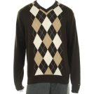Tommy Hilfiger Пуловер -  Tommy Hilfiger Mens V-Neck Sweater - Style 857802016_202 Khaki