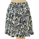 Tommy Hilfiger Skirts -  Tommy Hilfiger Plus Size Skirt, Ikat Print Gathered Blue/White