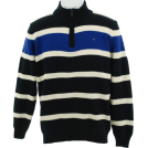 Tommy Hilfiger Pullovers -  Tommy Hilfiger Quarter Zip Sweater Navy/Black/White