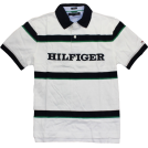 Tommy Hilfiger Shirts -  Tommy Hilfiger Slim-Fit Gibson Polo Classic White