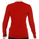 Tommy Hilfiger Pullovers -  Tommy Hilfiger V-Neck Sequin Sweater Red