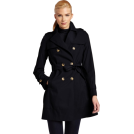 Tommy Hilfiger Jacket - coats -  Tommy Hilfiger Women's Double-Breasted Belted Classic Trench Coat - Navy (Sizes XS - XL)