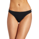 Tommy Hilfiger Cinturini -  Tommy Hilfiger Women's Ruched Thong Black Dot