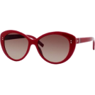 Tommy Hilfiger Occhiali da sole -  Tommy Hilfiger Women's TH1084S Cat Eye Sunglasses,Red Frame/Brown Gradient Lens,One Size