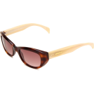 Tommy Hilfiger Occhiali da sole -  Tommy Hilfiger Women's TH1088S Cat Eye Sunglasses Havana Frame/Brown Gradient Lens