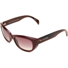 Tommy Hilfiger Occhiali da sole -  Tommy Hilfiger Women's TH1088S Cat Eye Sunglasses Opal Burgundy Frame/Gray Gradient Lens