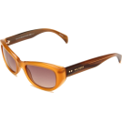 Tommy Hilfiger Occhiali da sole -  Tommy Hilfiger Women's TH1088S Cat Eye Sunglasses Opal Honey Frame/Brown Gradient Lens