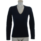 Tommy Hilfiger Pulôver -  Tommy Hilfiger Womens Cable Knit Cotton Logo Sweater Navy blue