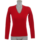 Tommy Hilfiger Пуловер -  Tommy Hilfiger Womens Cable Knit Cotton Logo Sweater Red