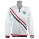 Tommy Hilfiger Giacce e capotti -  Tommy Hilfiger Womens Full Zip Track Jacket Sweatshirt White/Navy/Red