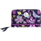 Vera Bradley  -  Vera Bradley Turn Lock Wallet Floral Nightingale