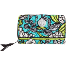 Vera Bradley Portafogli -  Vera Bradley Turn Lock Wallet Island Blooms