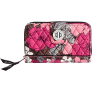 Vera Bradley Portafogli -  Vera Bradley Turn Lock Wallet Mocha Rouge