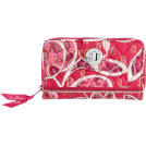 Vera Bradley Denarnice -  Vera Bradley Turn Lock Wallet Rosy Posies