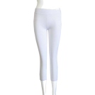 FineBrandShop Leggings -  White Leggings Three Quarter Length