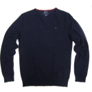 Tommy Hilfiger Puloverji -  Women's Tommy Hilfiger V-neck Pullover Sweater in Navy Blue (Ladies)