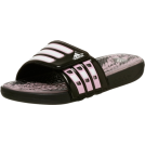 adidas Sandals -  adidas Women's Calissage Sandal Black/Fresh Pink/White