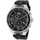adidas Uhren -  Adidas Cambridge Chronograph Black Grid Textured Dial Black Silicone ADH2534