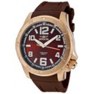 Invicta Zegarki -  Invicta Men's Specialty Brown Dial 18K Rose Gold Plated SS Case Brown Polyurethane 1906