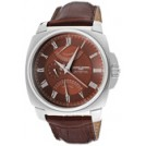 Jorg Gray Watches -  Jorg Gray Men's Dual Time Brown Dial Dark Brown Genuine Leather JG1040-13