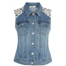 Oasis Shirts -  Lace Denim Gilet
