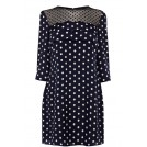Oasis Dresses -  Spot Scallop Shift Dress