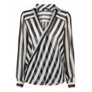 Oasis Long sleeves shirts -  Stripe Wrap Shirt