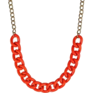 Lieke Otter Collane -  Red Chain Necklace