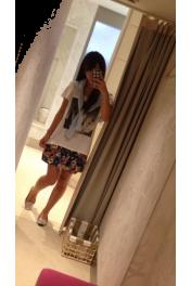 水色カーディガン - Myファッションスナップ