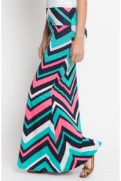 long chevron maxi skirt - My look