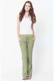 linen elastic waist pants - My look