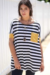 Striped Contrast Tunic - My look