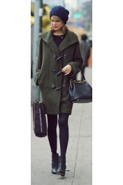 Taylor's Olive Toggle Coat - My look