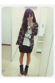 check shirt - Myファッションスナップ