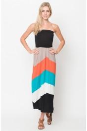chevron midi dress - My look
